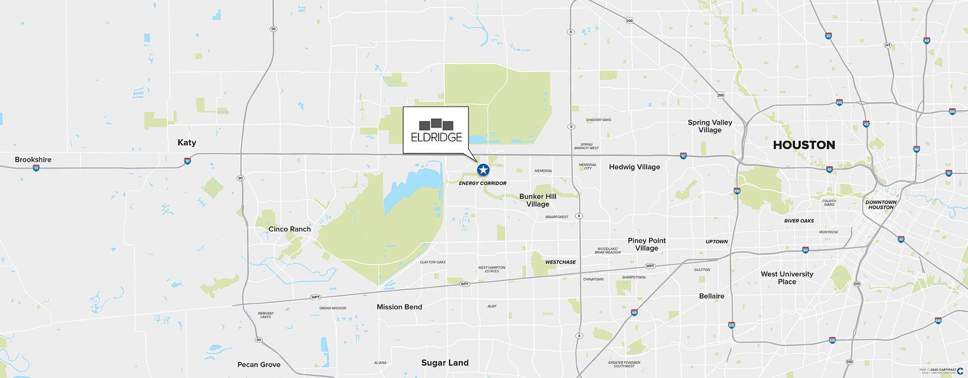 One Eldridge location map